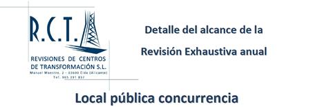Revisión exhaustiva Locales Pública Concurrencia